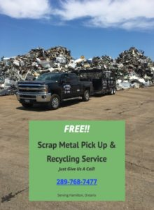 poster for Scrap Metal Pickup Hamilton company